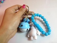 Wholesale 2015 Big Hero Key Chains Baymax Figure Toys Cartoon Movie Key Ring Pendants Baymax Bracelet and Bell Charging Cable