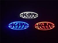 Wholesale For KIA car logos car model Forte Cerato Soul Sorento D car Emblems Badges Car symbols led lights with blue white red