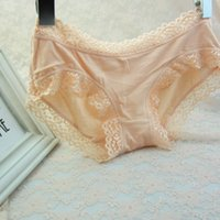 Wholesale Women s Cotton Briefs Lace Waist Comfortable Cotton Panties Everyday Lingerie Calcinhas Underwear Knickers ropa interior mujer