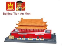 beijing architecture - Wange Building Blocks the Tian An Men of Beijing World s Great Architecture Series Educational Bricks Hot Toy for Children Gift