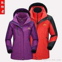 Wholesale Thermal Fleece Men In Size L XL Windproof Waterproof Camping Hiking Jackets Triple Outdoors Sports High performance Winter Hiking Wear