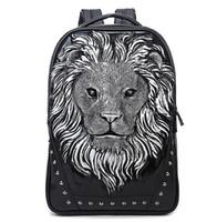 Wholesale Travel Backpack Camping Backpack The new Men and women PU shoulder bag Lionhead Travel Backpack Mcm Backpack larg