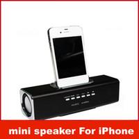 aluminum angle - Aluminum multi function Docking speaker for iPhone iPod music angle portable mini speakers docking speaker