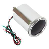 Wholesale 5pcs quot mm RPM Car Vehicle White LED Universal Tachometer Tacho Gauge Meter RPM CEC_523