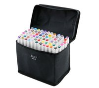 school supplies - Portable Touch Marker Pens Set of colors Touch Five Marker art design Pen Two headed oily pens with gift bag Office School Supplies