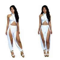 Acetate Regular Hollow Out women clothing sexy backless cross neck leg show bandage club outfit rompers women's bodycon bodysuit jumpsuit new 2014