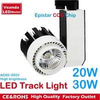 Wholesale DHL LED tracking light fashion store LED spot lamp Epistar COB reflector W W track light K K K AC85 V