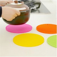 Wholesale New Honeycomb Round Silicone Heat Resistant eat Mat Pot Holder Table Mat Cup Coaster Cushion Trivet Placemat Pad DHL FEDEX
