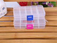 Wholesale Fedex DHL Adjustable Compartment Plastic Clear Storage Box for Jewelry Earring Tool Container