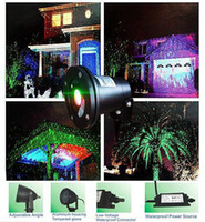 led lawn light - LED FloodLight Outdoor Waterproof IP65 Laser Firefly Stage Lights Landscape Red Green Projector Christmas Garden Sky Star Lawn Lamps By DHL
