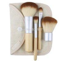 baby powder brush - Earth Friendly Bamboo Makeup Brush Powder Brush Multi Function Blush amp Concealer Brush Baby Kabuki With Bag