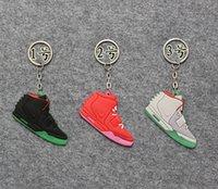 shoe keychain - New Color Glow Keychain keychain Yeezy Shoes Keychain Fans Pendant Basketball Shoes Key Chain