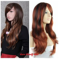 beauty wave layered - Sara Beauty Hair colors Cheap Fashion Synthetic Hair WL1008 long body wave layered wigs Sexy women Cosplay Red Wigs Cosplay blonde wigs