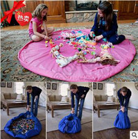 Wholesale 20pcs CCA3498 Colorful Baby Play Mat cm Playing Mats Toy Storage Bag Portable Toys Storage Bag Blanket Rug Toys Organizer Christmas Gift