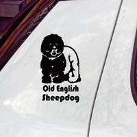 alta calidad vieja pegatina Inglés mascota perro pastor de la ventana del coche / los accesorios de coche pegatinas de decoración de todo el cuerpo