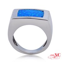 Cheap Hot Sale Fine Jewelry Fashion Wedding Finger Rings Lady's Men's Blue Sapphire opal anel 925 Sliver Gold Filled Ring R6S088