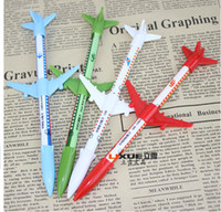 Plastic airplane supply - New Creative Office School Supplies Korea Novelty Airplane Modelling Gel Pen Top Kids Toy Fashion Student Stationery Children s Gift