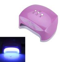 Wholesale 24W LED CCFL UV Curing Lamp UV Gel Polish Drying Care Tool Nail Dryers EU Plug Nail Drying Machine Lamp For Nail W948