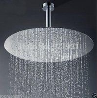 Wholesale Luxury Wall Mount quot Rainfall Brass Shower Head Chrome Finished Ultrathin ShowerHead With Shower Arm