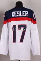 Cheap #17 Ryan Kesler USA Jersey,2014 Team USA Olympic Ice Hockey Jersey,Best quality,Embroidery Logos,Authentic Jersey,Size M--XXXL