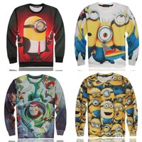 toy story clothing - Minions Clothes D T shirt Men Toy Story Buzz Lightyear Brand Tees Long Sleeve Mens T Shirts Funny Swag Style Unisex Tops Hiphop