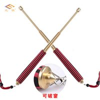 Wholesale Whiplash telescopic whip steel three telescopic whip rod spring outdoor self defense self defense products for men and women