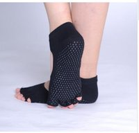 Wholesale Hot selling Anti skid yoga sock for Men and Women Professional Yoga Socks Five Fingers Antiskid Backless Five Toe Socks Yoga Sports Socks