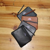 Wholesale Original Quality Acne Studios Wallet Classic New Cowhide Leather Fashion Acne Wallet Real Photos