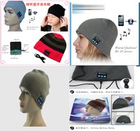 Wholesale Crochet Hat Headphone - Fasion Style Bluetooth Music Hat Soft Warm Cap with Stereo Headphone Headset Speaker Wireless 7 color E300