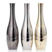 Wholesale Vase cannon Bowling Atomizer Dry Herb Vaporizer wax Dual Coil Rebuildable Gold Vase Shape Metal Vapor E Cigs
