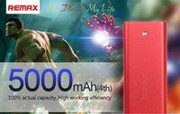 REMAX 5000mAh luz LED USB externo portátil batería ampliada de seguridad Copia de seguridad móvil banco de la energía de alimentación universal para iPhone S6