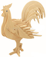 Wholesale Educational Toys Child D Puzzle Animal Scale Model Cock Rooster DIY P0637