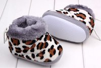 Wholesale Warm cotton baby toddler soft bottom leopard shoes
