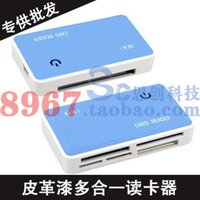 Wholesale Computer accessories leather paint card reader card reader usb2