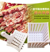 Wholesale Free drop shipping Brochette Express kabob skewers spiedini shish kebab pincho arrosticini maker for skewers at once