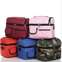 Wholesale Fashion New Designer Travel Outdoor Picnic Frozen Lunch Carry Bag Insulated Ice Cooler Bag Two Compartments Tote Container Box Popular Bags