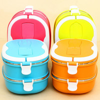Cheap Eco-Friendly Portable Stainless Steel Thermal Insulated Lunch Box Food Container Bento Box For Kids Lunchbox Dinnerware JH0013 salebags