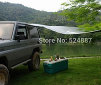 Wholesale portable car awning tent side awning sun shading sunscreen beach tent camping tent x4 off road accessory