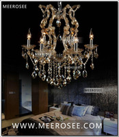 Wholesale Cognac chandelier crystal light with K9 crystal maria theresa style Glass chrystal lighting fixture MDS06 L6 fast shipping