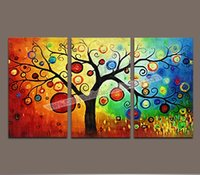 More Panel Digital printing Abstract Hot Sales 3 Piece Wall Art Painting Pictures Print on Canvas Modern Wall Art Decorative Painting of Money Tree Canvas Prints Painting