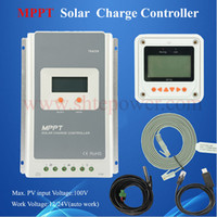automatic solar controller - automatic work voltage v v mppt solar controller A Tracer4210A with usb meter lcd temperature sensor