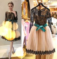 Cheap 2015 New Dress Women Clothing Dress For Big Gir Lace lashes bandage soft knee nude Dress For Big Gir dress M7A58