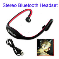 Wholesale Sport Wireless Stereo Bluetooth Headset Headphone Built in Mic for iPad iPhoneTablets Smartphones
