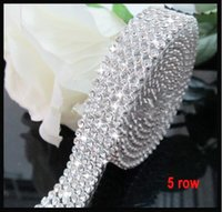 mesh ribbon - Diamond Mesh Rows cm A Grade Real Rhinestone Crystal Beads Wedding Cake Banding Trim Cake Ribbon For Wedding Decoration