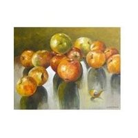 apple still life - art original still life oil painting on canvas quot APPLES quot