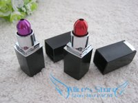 wholesale novelty items - Fashion rasta Lipstick Shape Metal tobacco pipes Smoking Pipe Magic Novelty items Gift for men
