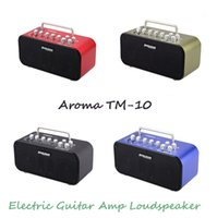 Wholesale Aroma Electric Guitar Amp Amplifier Loudspeaker Speaker Built in Tuner Tap Function Effect Volume Tone Control Top Quality order lt no track