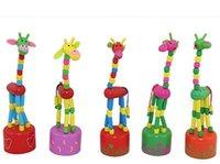 wooden horse - 2015 Children Birthday Gifts Wooden Animals Horse Dancing Finger Toys Kids Boy Girl Activity Horses Dance Wood Toy Animal D3681