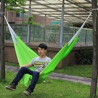 Cheap Casual Outdoor Camping Parachute Cloth Hammock Breathable Portable Swing Bed Travel Hammocks MA0110 salebags