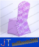 Wholesale High Quality Purple Spandex Chair Covers New Design With Sash Decoration Chair Cover For Wedding Party MYY14537
